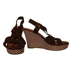 Charles David Platform Wedge Strap Sandals 9.5